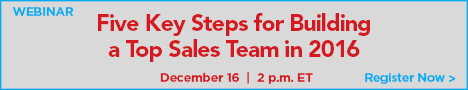 Conversica - Five Key Steps for Building a Top Sales Team in 2016